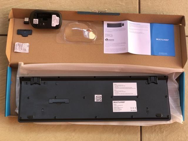 Teclado e Mouse sem Fio wireless Multilaser Novo - Foto 4