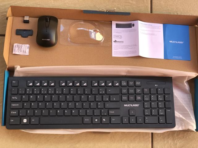 Teclado e Mouse sem Fio wireless Multilaser Novo - Foto 5