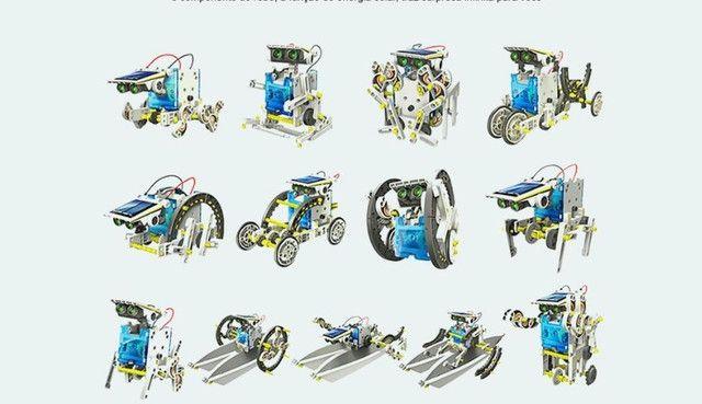 Kit Educacional Montagem Robô Solar 13 em 1 - Foto 2