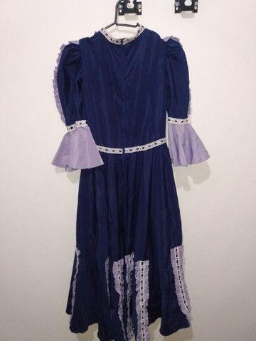 Vestido de prenda roxo - Foto 3