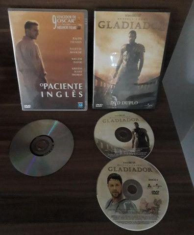 Gladiador e O Paciente Inglês DVDs originais usados - Foto 3