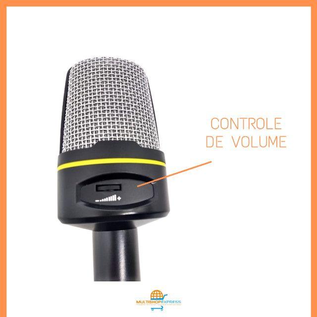 Microfone Condensador Gravação Studio Lives Vídeos - Foto 4