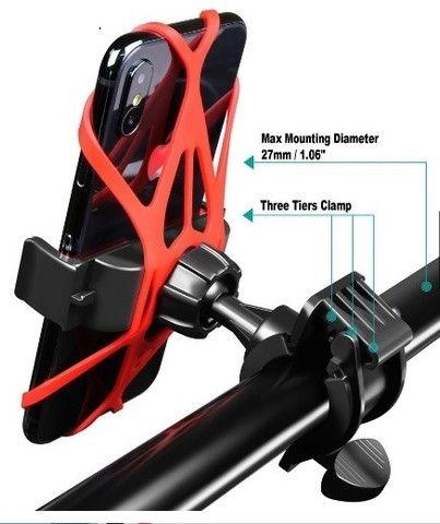 Suporte Universal De Moto E Bike De Silicone 360 Tomate - Foto 2