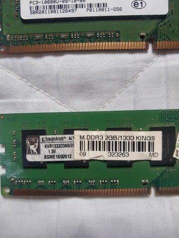 Memória RAM drr3 4 gb 2x2 1333 - Foto 3