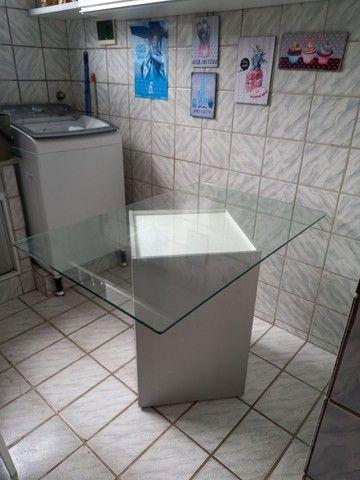 Mesa de vidro 1,2X0,8m