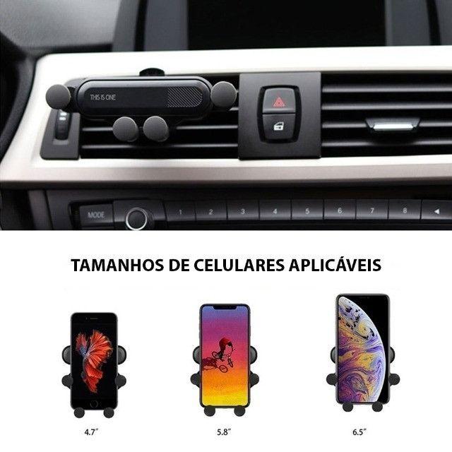 Suporte Celular Veicular Universal p Ar Condicionado c/ trava antiqueda - MTG-065 Tomate - Foto 2