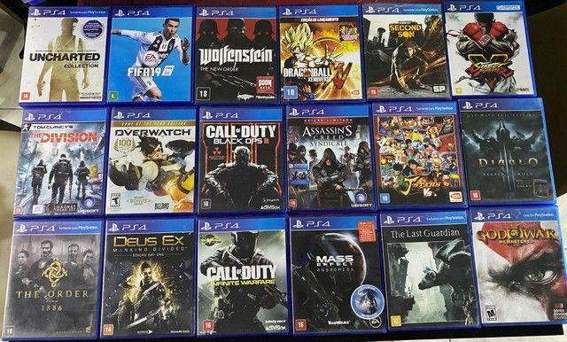 Jogos de ps4 ( PlayStation 4 ) aceito cartao