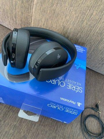 Headset Sem Fio Série Ouro - Preto - Playstation 4