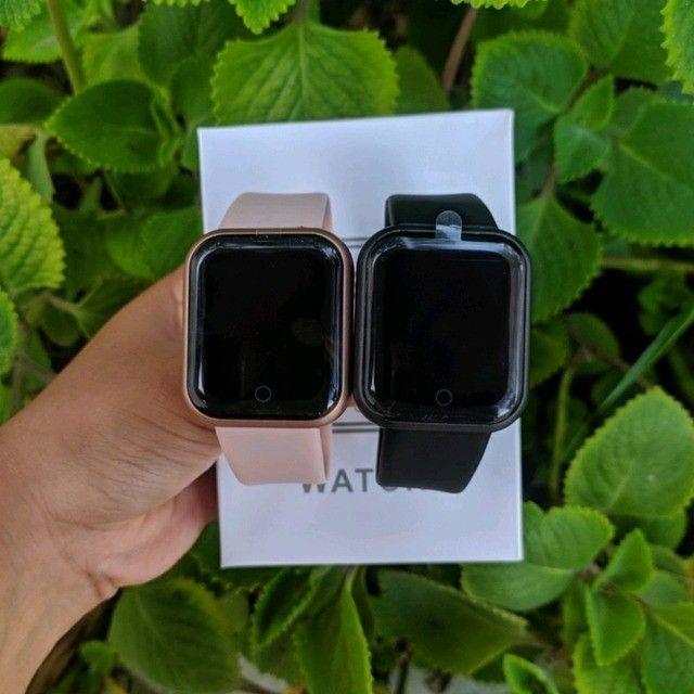 Relogio Smartwatch Y68 D20 Android Ios Rosa - Foto 3