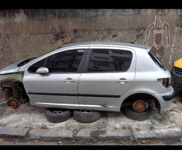 Peugeot 307 peças porta caixa de marcha vidros leilão