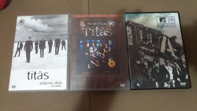 3 dvds titãs acústico 1 e 2 - Foto 3