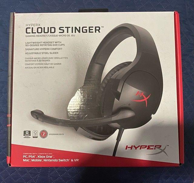 HEADSET HYPERX CLOUD STINGER USADO - Foto 3