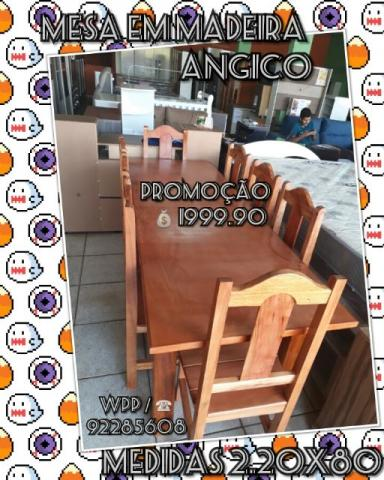 Mesa madeira 8 cadeiras
