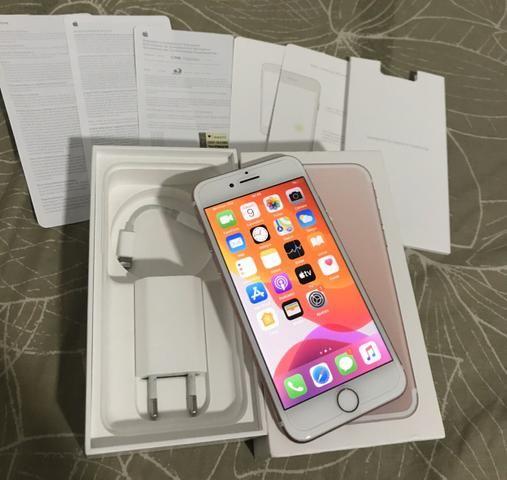IPhone 7 32gb Rosé Gold na caixa completa com todos acessórios originais - Foto 2