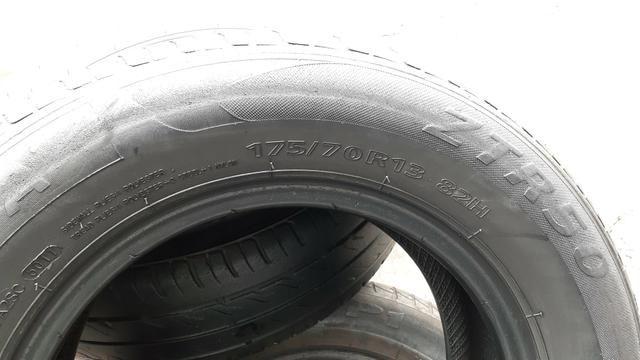Par de pneu 175/70/13 usado meia vida - Foto 4