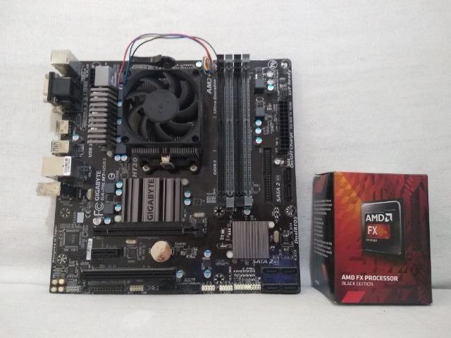 Placa mãe Gigabyte GA - 78LMT-USB3 + Processador FX8300 de 8 núcleos