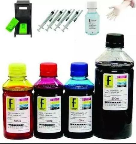 Kit recarga tintas cartuchos impressora hp - super oferta - Foto 3