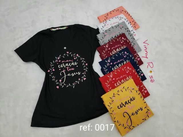 Camiseta feminina tamanhos extras - Foto 2