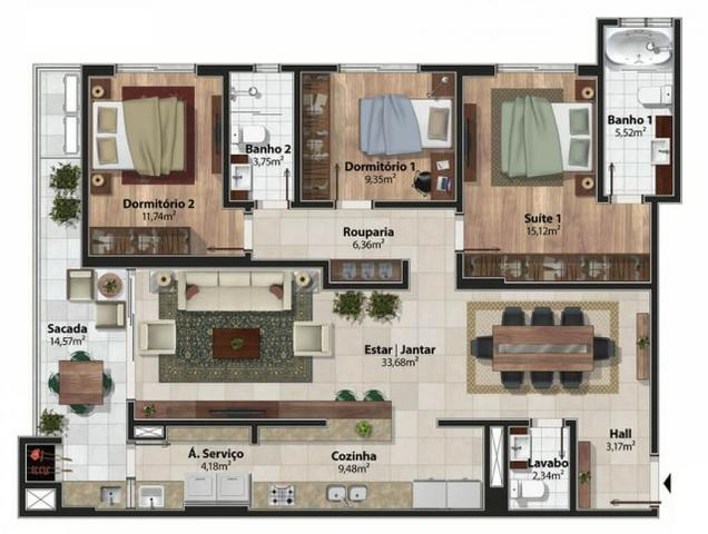Amplo Apartamento 3 Dormitórios(1Suíte+2D) + Lavabo com 2 Vagas no Centro de Itajaí! - Foto 17