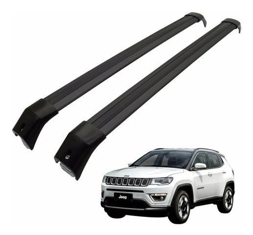 Travessa Rack de teto Jeep Compass Aluminio Larga