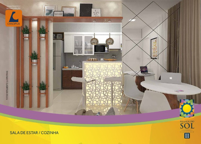 Condominio village do sol 2 apartamentos com 2 quartos, canopus - Foto 4