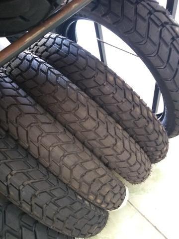 pneu dianteiro para motos xre lander 120/80-18 technic entrega todo rio - Foto 2
