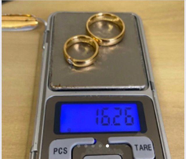 Alianças Reisman De Ouro Maciço 18k Diamante 20 Pto 5mm - Foto 4