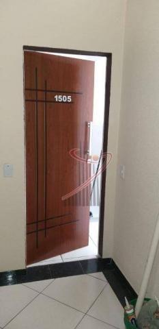Apartamento com 1 dormitório para alugar, 48 m² por R$ 1.050,00/mês - Centro - Foz do Igua - Foto 2