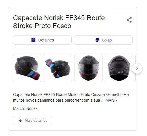Capacete Norisk FF345 Route Stroke Preto Fosco - Foto 2