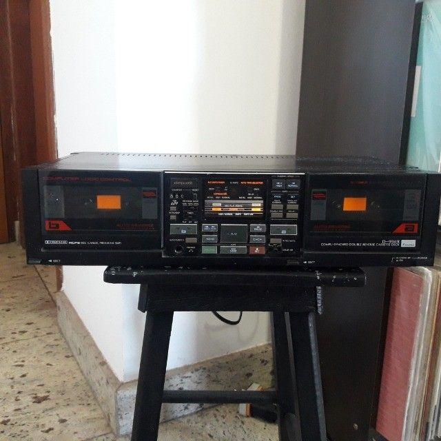 Tape Deck duplo Sansui ñ Receiver Gradiente Marantz CCE Sony Akai Kenwood Technics