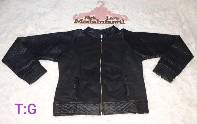 Jaquetas juvenil peluciada por dentro feminina