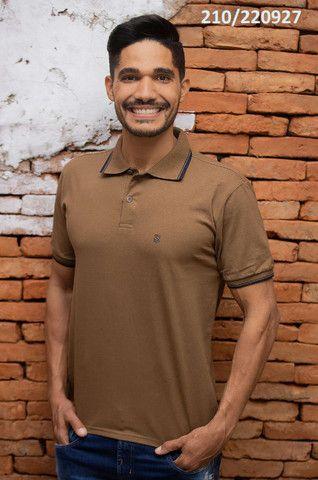 Kit 3 Camisas Pólo Meia Malha Sudotex C/ Frisos Tecido Macio Alta Qualidade Frete Grátis - Foto 6