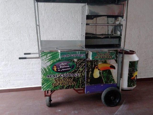 Oportunidade de negócio carrinho de churrasquinho e açaí