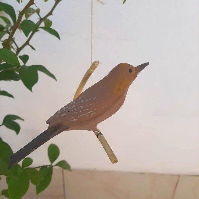 Pássaro de Madeira Rouxinol - Foto 2