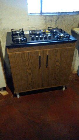Cooktop realce mega chama junto com o balcão já kit real móveis exclusivo