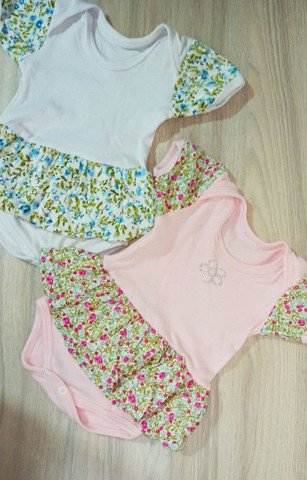 02 Vestidos body bebê menina
