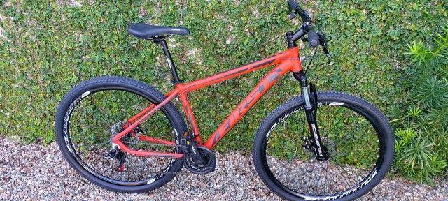 Bicicleta aro 29 first, com cambios Shimano tourney, first mais barata do brasil - Foto 4