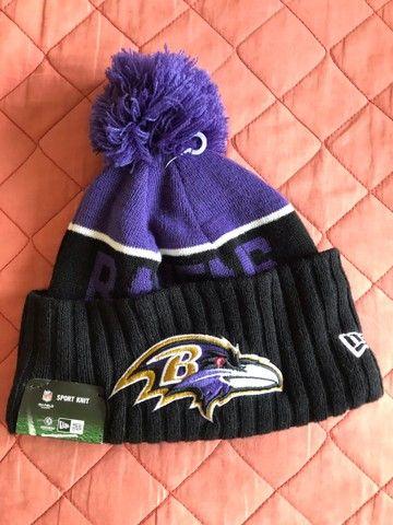 Vendo touca gorro lã Ravens NFL oficial nova