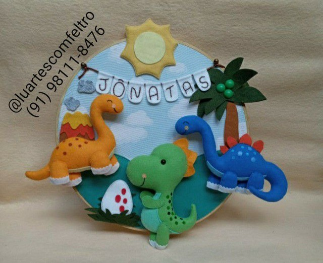 Bastidor decorado Dinossauro