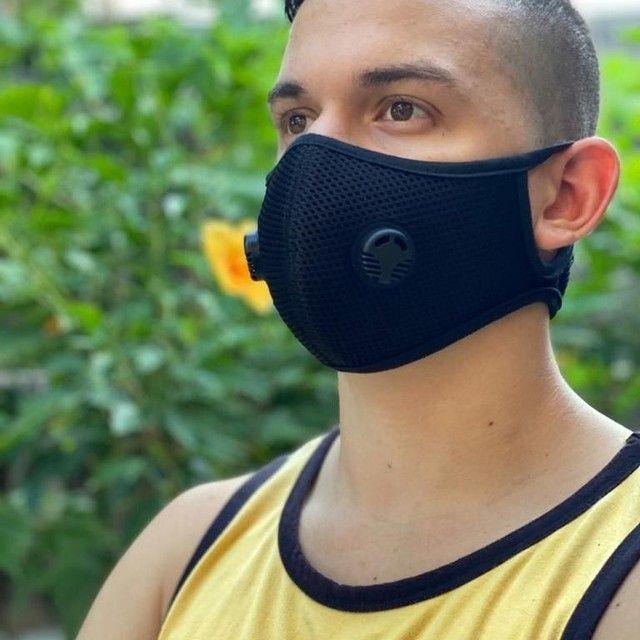 Máscaras Protetoras Neoprene Telada com respiradores, filtros e velcro