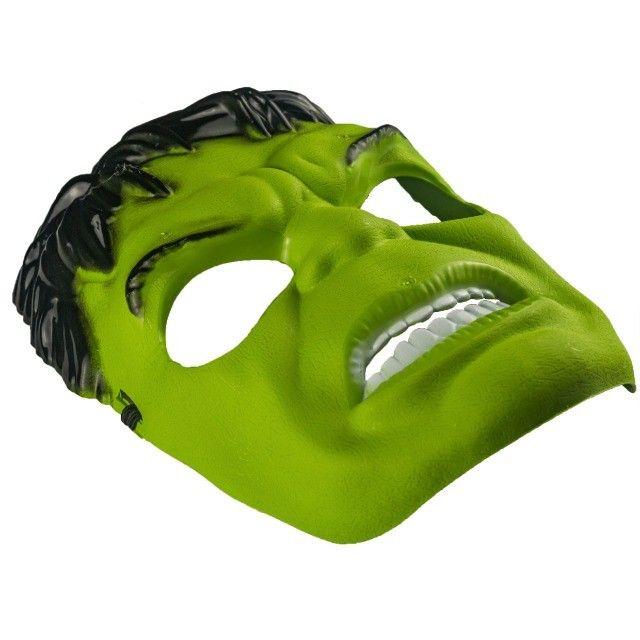 Máscara Do Hulk Plástico Super Herói Com Tira Ajustável - Foto 2