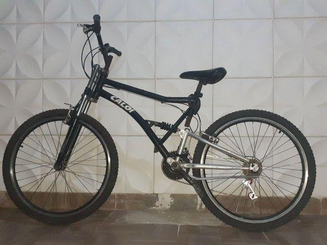 Bike Aro 26 Com 21 Marchas. Suspensão Traseira E Dianteira<br><br>