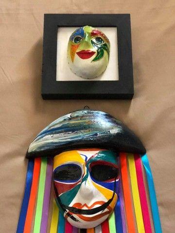Mascara e quadro decorativo - Foto 2