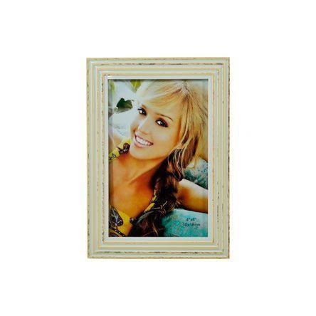 Porta Retrato Branco/Bege 10x15