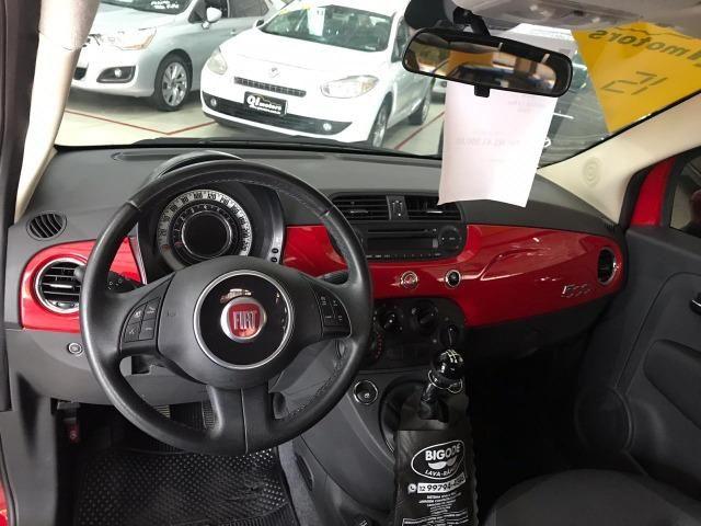 Fiat 500 Cult 1.4 Evo Flex 2015 38 mil km (Sport) - Foto 11