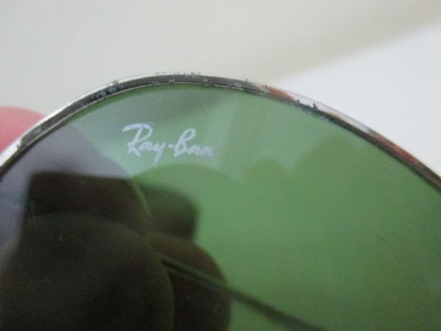 dcca6db25 Óculos rayban aviador antigo com case peça vintage anos 1980 - Foto 4