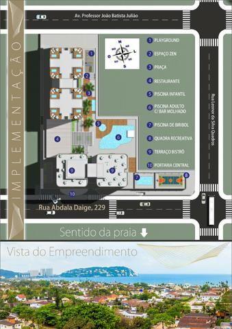 Apartamento Flat no Guarujá, 55m2 , Varanda Gourmet, Mobiliado! - Foto 11