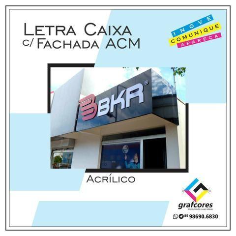 Fachada ACM e Lona / Letra Caixa / Totem / Toldos / Cartão de Visita / Sacola de Papel - Foto 2