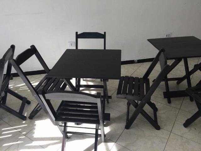 Mesa e cadeiras sem pintura . balcão pra açai e sorveteria e moveis em geral sob medida - Foto 2