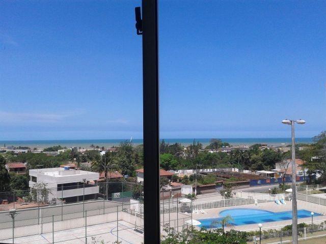 Apartamento 2 quartos com varanda e bela vista para o mar de jacaraipe